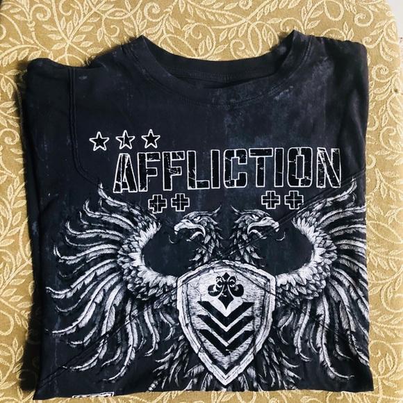 Affliction Other - Men's AFFLICTION Short Sleeve Tee Black LARGE